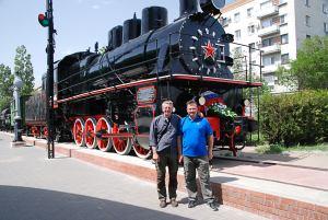 Sevastopoli motorssal / with a biker from Sevastopol
