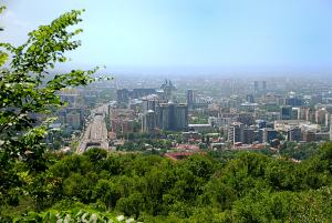 Almaty madár távlatból /Almaty from Kok-Tobe
