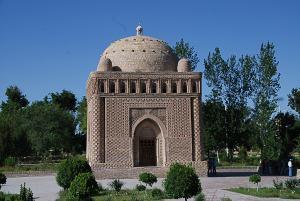 Ismail Samani, a Samani dinasztia alapítójának mauzóleuma. X. század / Tomb of Ismail Samami, the founder of the Samani dinasty. Built in the X. century