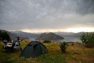 Táborhelyem Nurak-ban / My campsite in Nurak