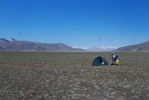 Táborhely a fennsíkon. Campground on the plateau.