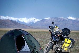 Kemping a fennsíkon Camp on the plateau