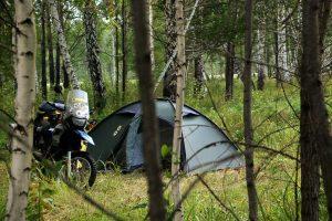 Éjszakai sátorhelyem a szibériai vadonban / My camp spot in the wild Siberia