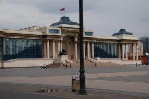 Ulánbátor részlet taxiból / Ulaanbaatar from taxi